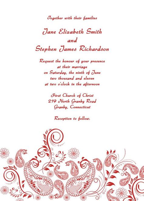 Free Printable Wedding Invitation Templates Wedding Invitation Design Templates Free