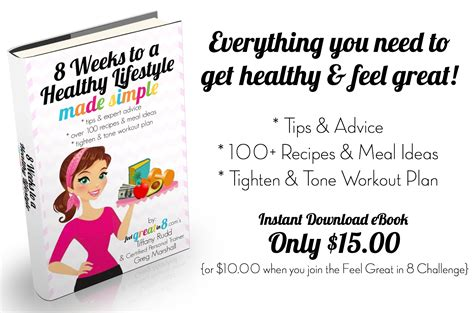 8 weeks to a healthy lifestyle made simple feel great