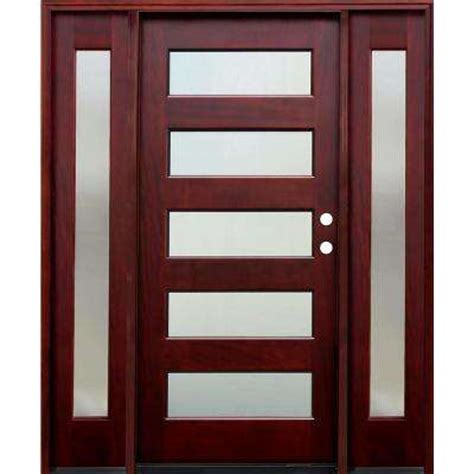 Contemporary Wood Doors Exterior 5 Panel Front Doors Exterior Doors The Home Depot