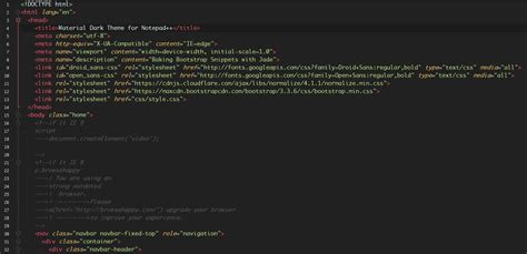 Notepad Themes Black Green | github naderi material theme for npp material theme