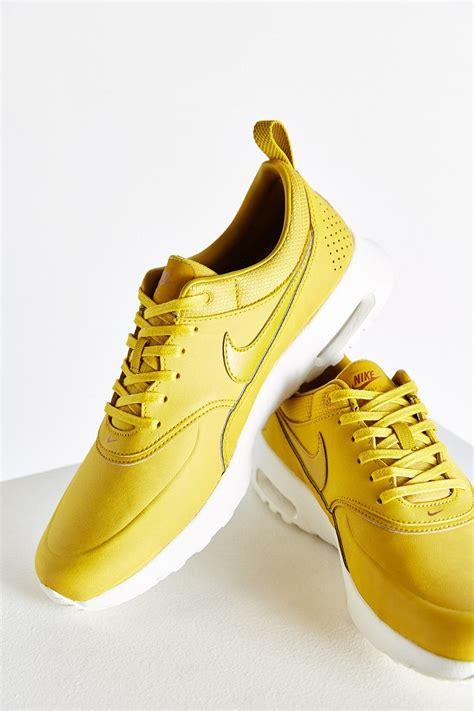 air max thea sneaker nike air max thea premium sneaker in yellow lyst