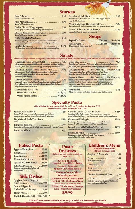 layout of a restaurant menu free blank restaurant menu templates restaurant menu