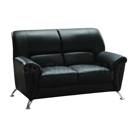 2 Pc Black Vinyl Sofa Set Sofa And Loveseat Sofas
