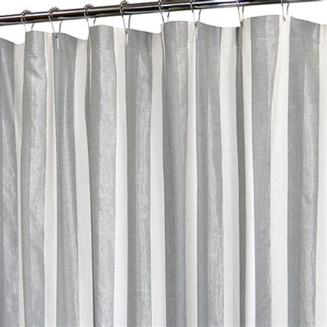 park b smith shower curtains park b smith ottavia 12 buttonhole silver shower curtain