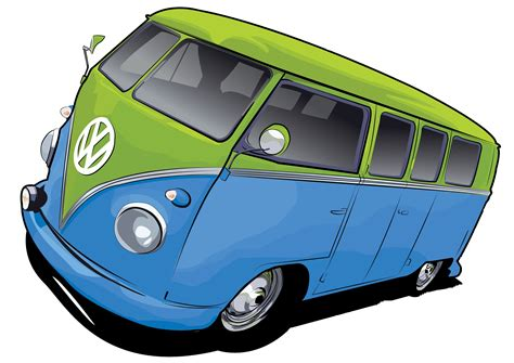 volkswagen van cartoon vw bus by stxd s free images at clker com vector clip