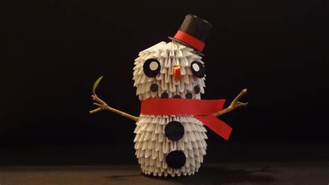 3d Origami Snowman - 3d origami snowman album ibeautylovely 3d origami