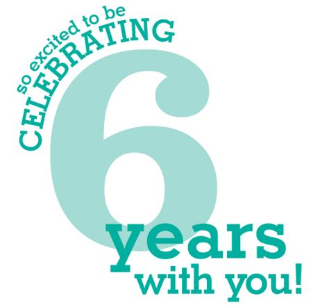 6 years in years we are so excited to be celebrating 6 years with you s studio