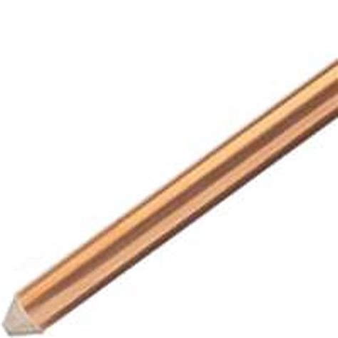 Ground Rod Copper Bonded 5 8 Inch X 2 4 Meter eritech 615840upc grounding rod 5 8 in dia x 4 ft l copper