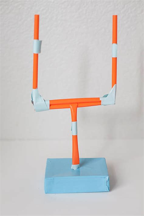 How To Make A Paper Football Field Goal - chipper recycle craft bowl football for