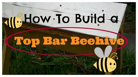 how to build top bar hive how to build a top bar beehive youtube