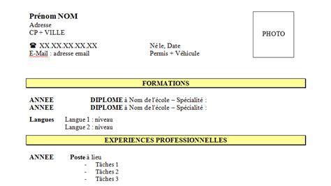 Curriculum Vitae With Accent Cv Mettant L Accent Sur La Formation