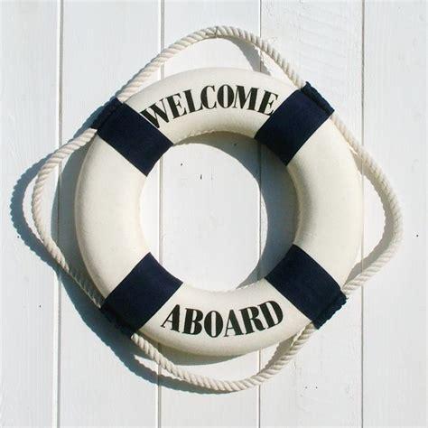 Coastal Home Decor Accessories welcome aboard life ring small coastalhome co uk