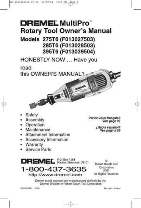DREMEL 395T6 Tools download manual for free now - 20F33