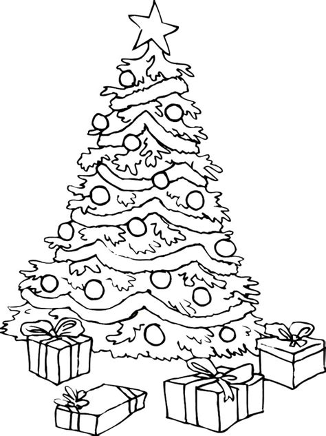 christmas tree and presents coloring page christmas tree coloring pages az coloring pages