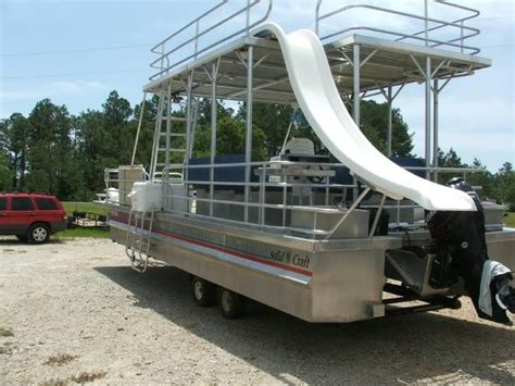 pontoon boats with upper deck and slide for sale 21 best pontoon furniture images by iboats classifieds on