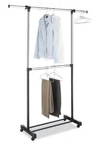 whitmor adjustable two garment rod rack clothes stand