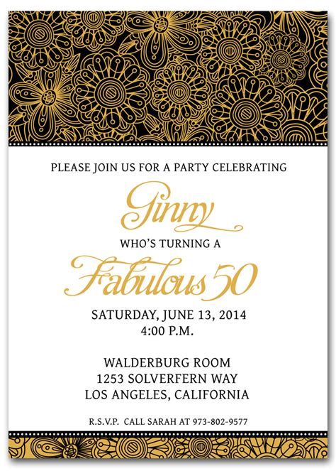 50th birthday invitation templates free printable my