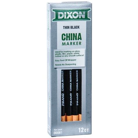 Dixon Phano China Marker dixon phano china marker black thin lead 81 00081 box of 12 nordisco