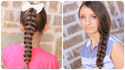 cute hairstyles in youtube how to create a pull through braid easy braided