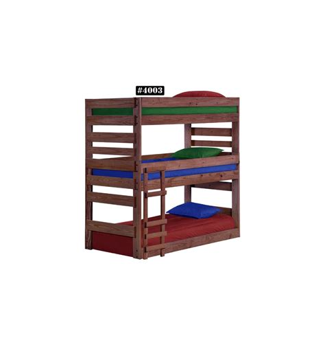 stackable bunk beds twin stackable triple bunk bed wood n things furniture gretna la