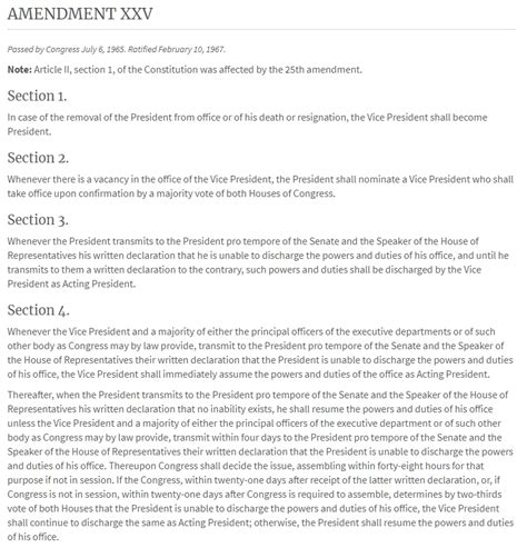 amendment 25 section 4 run your own country quot of the people by the people
