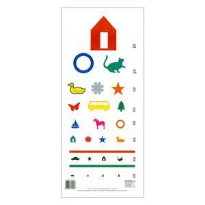 printable eye chart for preschoolers color vision testing chart preschool