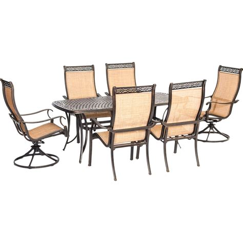 Patio Dining Sets For Two Hanover Outdoor Manor 7 Pc Outdoor Dining Set With Two