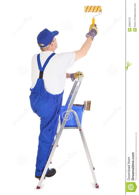 the house painter painter on ladder clipart clipart suggest