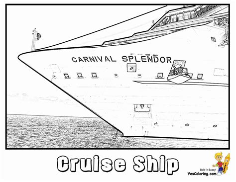 stupendous cruise ship coloring pages  ships cruises