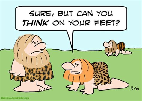 Unique Cooking Gadgets by Caveman Think On Feet Bipedal By Rmay Nature Cartoon