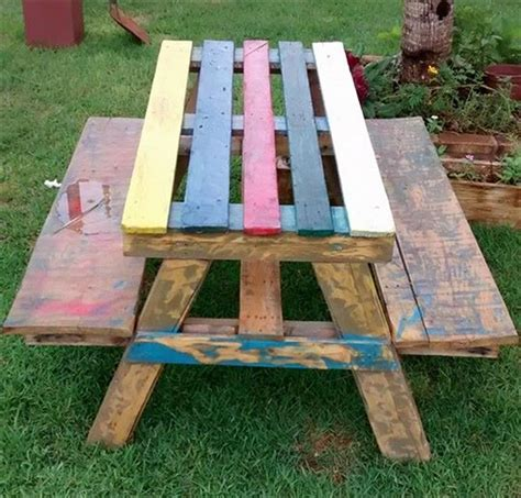 Diy Wood Picnic Tables Local Diy Wooden Pallet Projects Pallet Idea