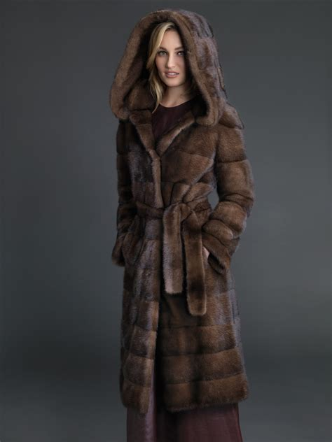 Mink Coat dyed demibuff mink coat stylish coat fur outwear at