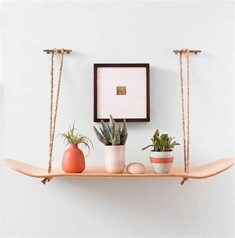 Planter Shelf by Hanging Skateboard Planter Shelf