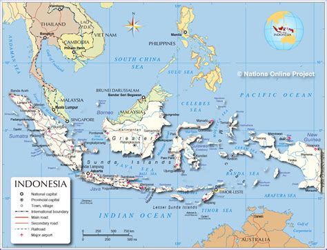 map indonesia political map of indonesia nations project