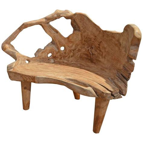 organic bench organic teak wood white wash bench at 1stdibs