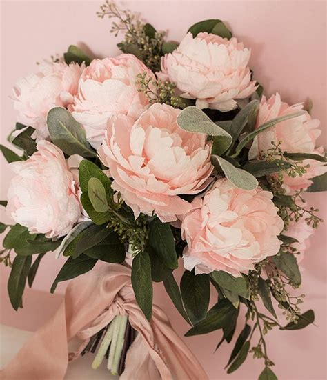 diy crepe paper peonies diy paper peony bouquet 183 ruffled