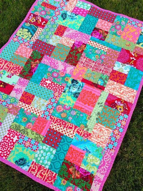 Contemporary Patchwork Quilts - esmeralda modern random patchwork quilt quilts