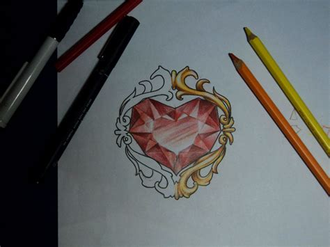ruby tattoo designs haer shaped ruby design by arturnakolet on deviantart