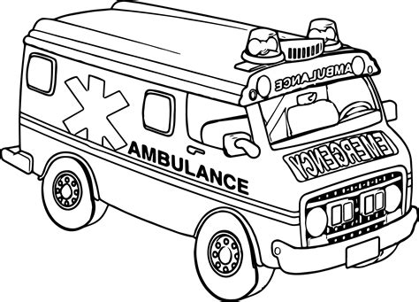 coloring page of an ambulance transportation ambulance car coloring page wecoloringpage