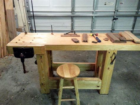 Work Bench Table My Workbench Build Hand Tools Only Create Your Free