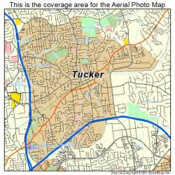 aerial photography map of tucker ga