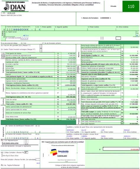 declaracion de renta 2015 ejemplo guia para el diligenciamiento de la declaracion de renta y