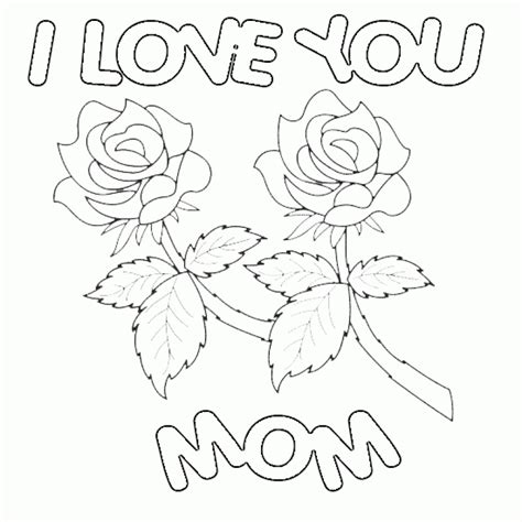 happy valentines day mom coloring page designcorner