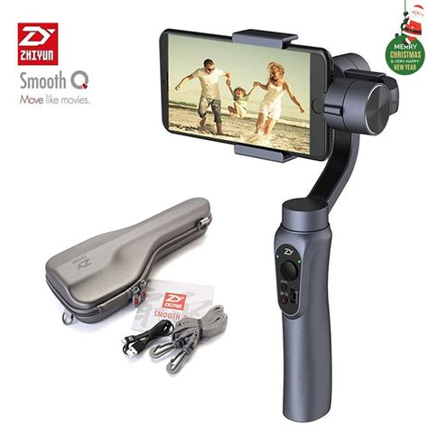 Zhiyun Smooth Q Handheld Gimbal Stabilizer For Smartphones zhiyun smooth q 3 axis handheld gimbal stabilizer for smartphone iphone samsung huawei and gopro