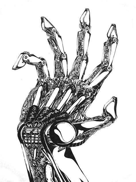 mechanical hand by kelziniowa on deviantart