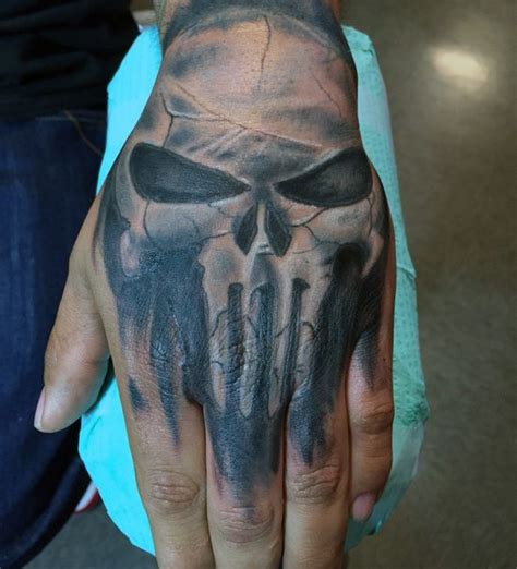 tattoo design for men on hand 80 skull designs for manly ink ideas