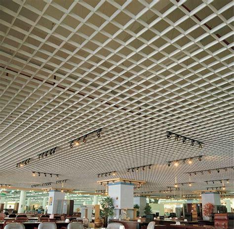 Grid Ceiling Design Aluminum Grid Ceiling Metal Wooden Color False Ceiling