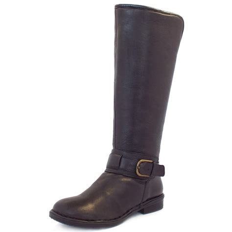 mens brown leather knee high boots lotus knee high boots in soft brown leather mozimo