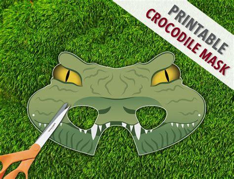 printable alligator mask crocodile mask reptile party mask lizard lion mask