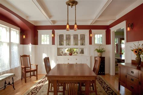 craftsman dining room dining room restored craftsman dining room seattle